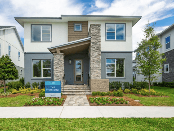 New Calgary Single Family Home Symphony in Shawnee Park, located at 6921 Arnoldson St, Orlando, FL Built By Cardel Homes Calgary
