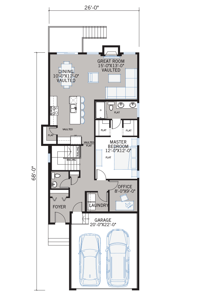 The Hudson home main floor quick possession in Walden, located at 103 Walgrove Green SE Calgary Built By Cardel Homes