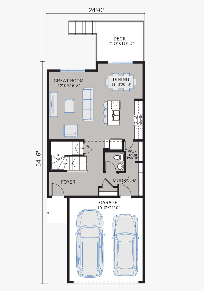 The Evo 2 home main floor quick possession in Walden, located at 244 Walgrove Heath SE Calgary Built By Cardel Homes