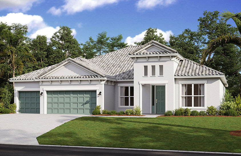 New Tampa Single Family Home Quick Possession Savannah in Worthington, located at 4616 Antrim Drive, Sarasota, FL (Lot 70) Built By Cardel Homes Tampa