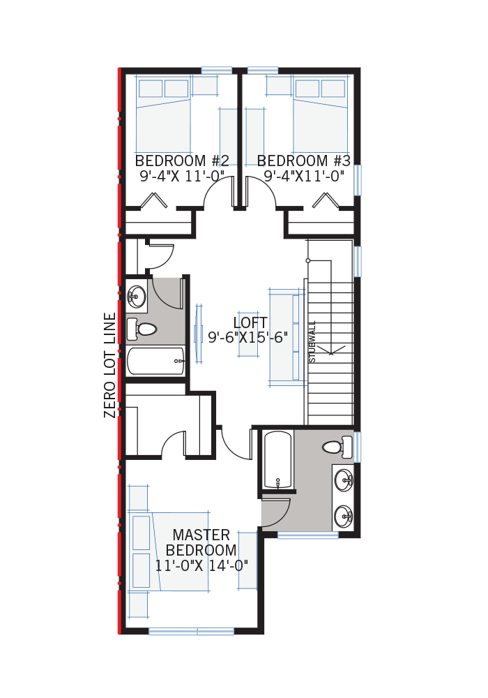The Mensa 3 home upper floor quick possession in Walden, located at 467 Walgrove Way Calgary Built By Cardel Homes