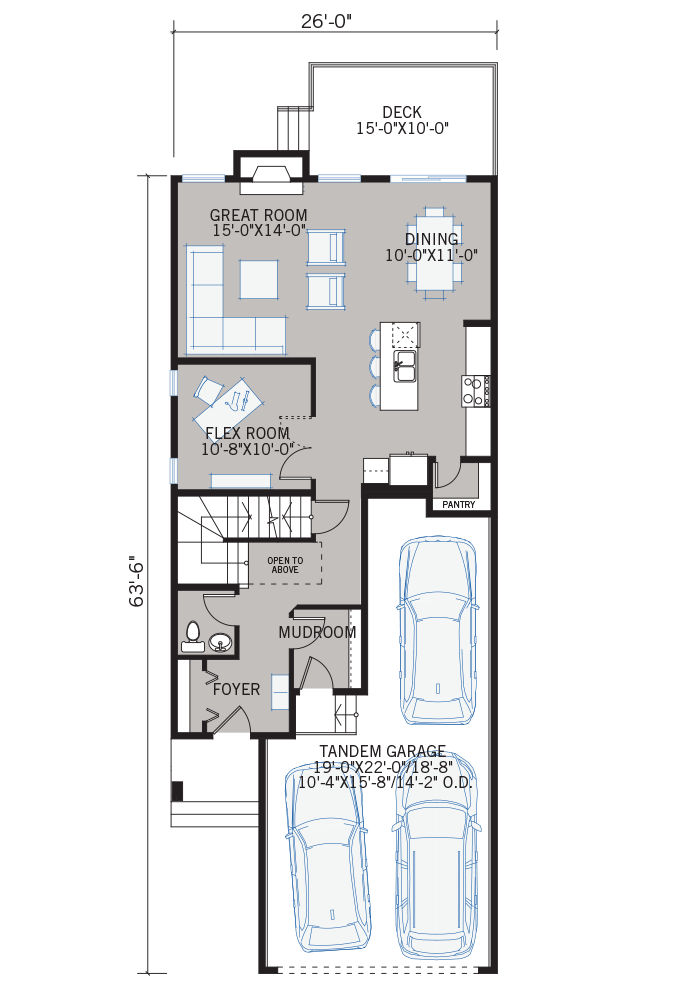 The Tandem Bay home main floor quick possession in Walden, located at 73 Walgrove Gardens Calgary Built By Cardel Homes