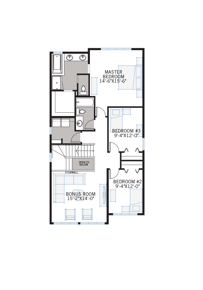 The Tandem Bay home upper floor quick possession in Walden, located at 73 Walgrove Gardens Calgary Built By Cardel Homes