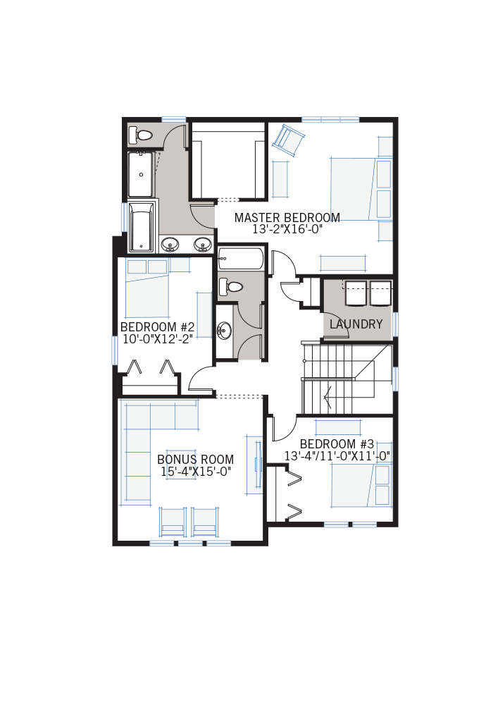 The Custom Grafton 2 home upper floor quick possession in Shawnee Park, located at 8 Shawnee Green SW Calgary Built By Cardel Homes