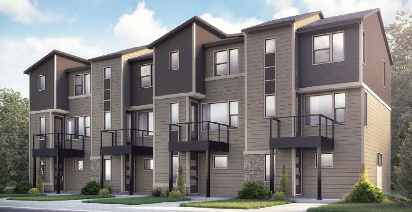 New Calgary Single Family Home Kennedy in Shawnee Park, located at 6976 Eliot Street Built By Cardel Homes Calgary