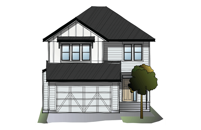 New Calgary Single Family Home Quick Possession Custom Grafton 2 in Shawnee Park, located at 8 Shawnee Green SW Built By Cardel Homes