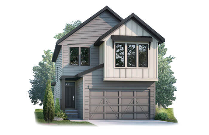 New Calgary Single Family Home Quick Possession Strand 2 in Shawnee Park, located at 73 Shawnee Green SW Built By Cardel Homes
