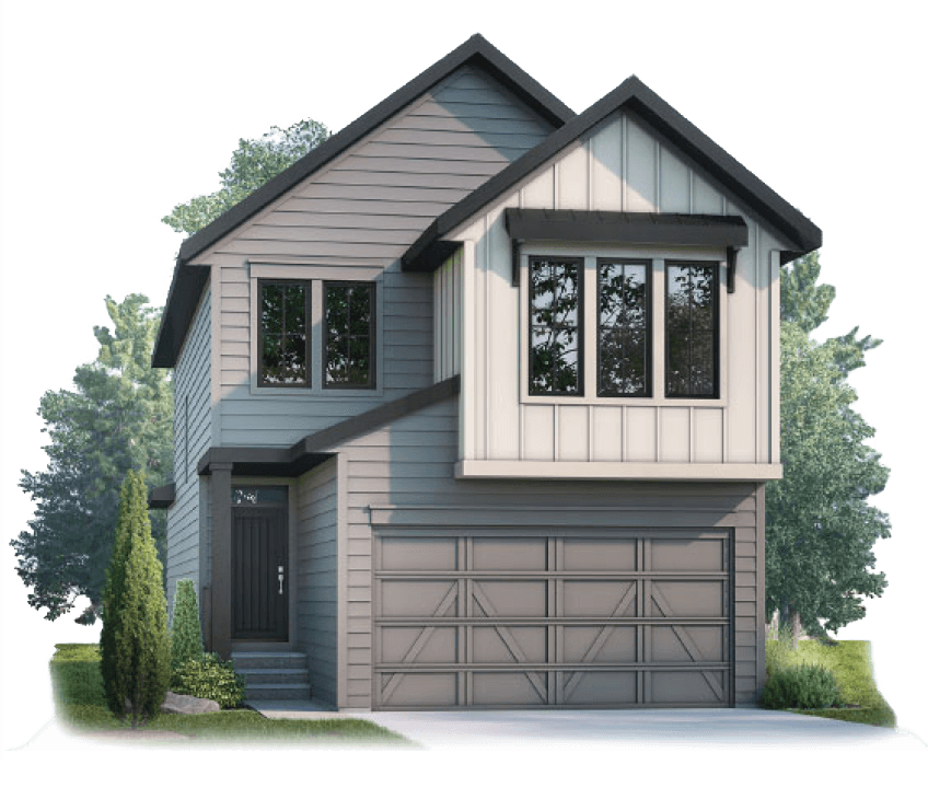 New Calgary Single Family Home Quick Possession Strand 2 in Shawnee Park, located at 73 Shawnee Green SW Built By Cardel Homes Calgary