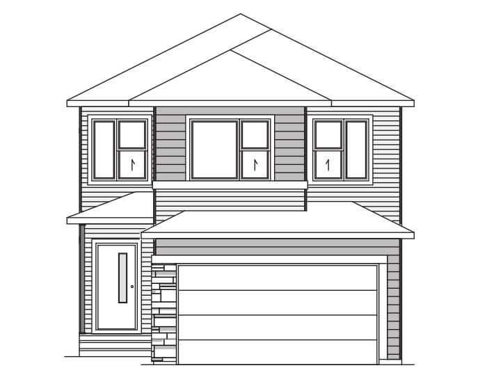 HAVEN - A1 Craftsman Elevation - 2,413 sqft, 5 Bedroom, 4 Bathroom - Cardel Homes Calgary