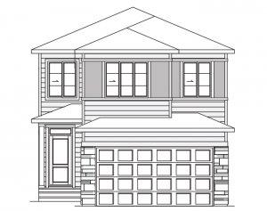 HAVEN - C2 Prairie Elevation - 2,413 sqft, 5 Bedroom, 4 Bathroom - Cardel Homes Calgary