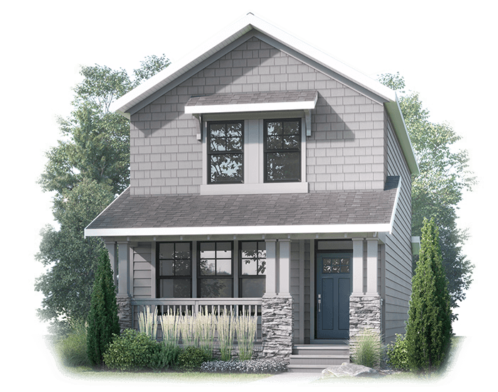New Calgary Single Family Home Amery in Shawnee Park, located at 32 Treeline Manor SW Built By Cardel Homes Calgary