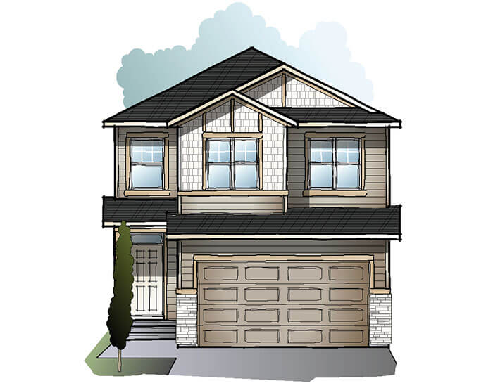 New home in HAVEN in Cornerbrook, 2,413 SQFT, 5 Bedroom, 4 Bath, Starting at  - Cardel Homes Calgary