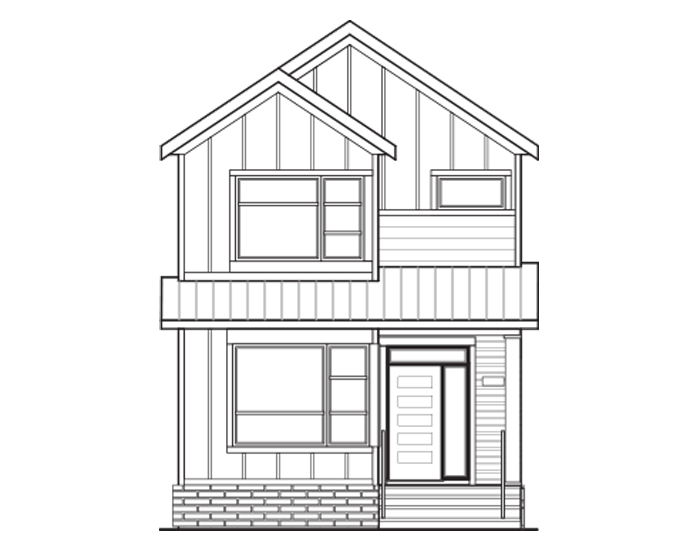 New Calgary Single Family Home Julian in Shawnee Park, located at 28 Treeline Manor SW Built By Cardel Homes Calgary