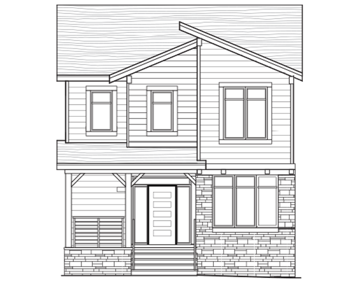 New Calgary Single Family Home Logan in Shawnee Park, located at 37 - 20 Alpine Drive SW Built By Cardel Homes Calgary