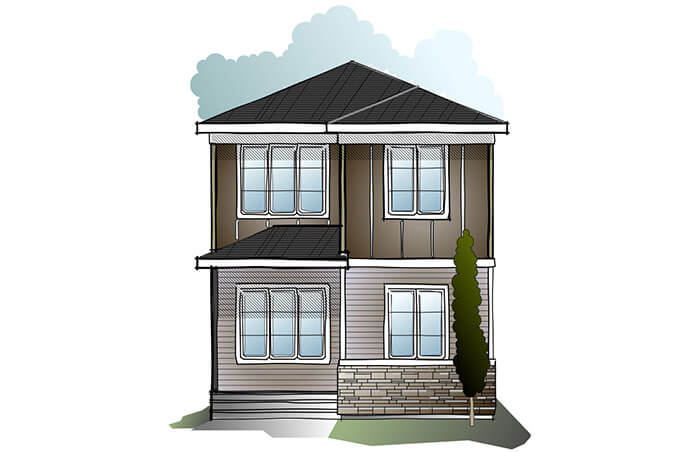 New Calgary Single Family Home Quick Possession Indigo 1 in Walden, located at 74 Walcrest Way SE Built By Cardel Homes