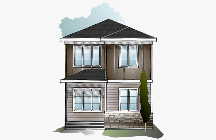 New Calgary Single Family Home Quick Possession Indigo 1 in Walden, located at 74 Walcrest Way SE Built By Cardel Homes Calgary