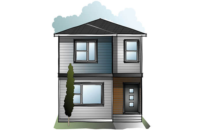 New Calgary Single Family Home Quick Possession Indigo 3 in Walden, located at 70 Walcrest Way SE Built By Cardel Homes