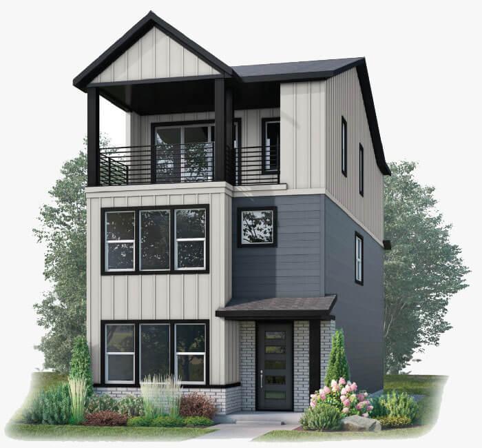 New Calgary Single Family Home Raine in Shawnee Park, located at 5706 Van Gordon Street Built By Cardel Homes Calgary