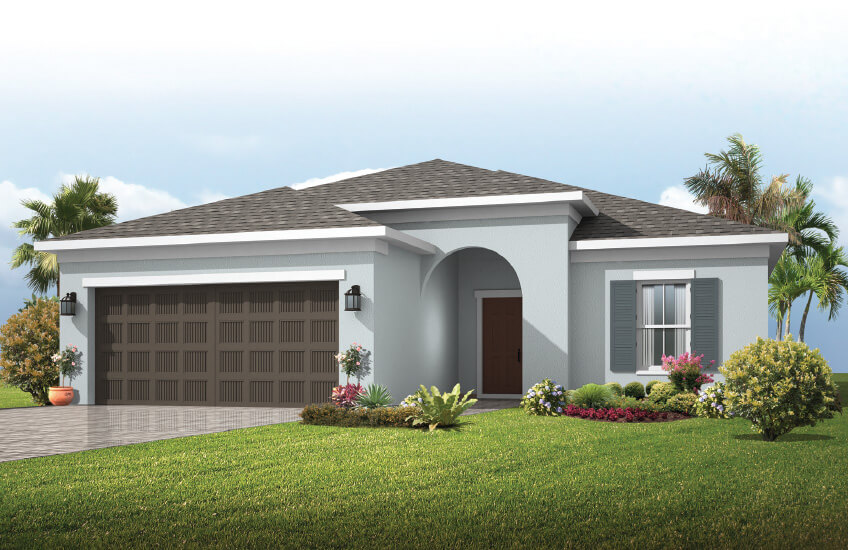 New Tampa Single Family Home Quick Possession Brighton in Waterset, located at 5522 Del Coronado Dr, Apollo Beach (Lot 11) Built By Cardel Homes