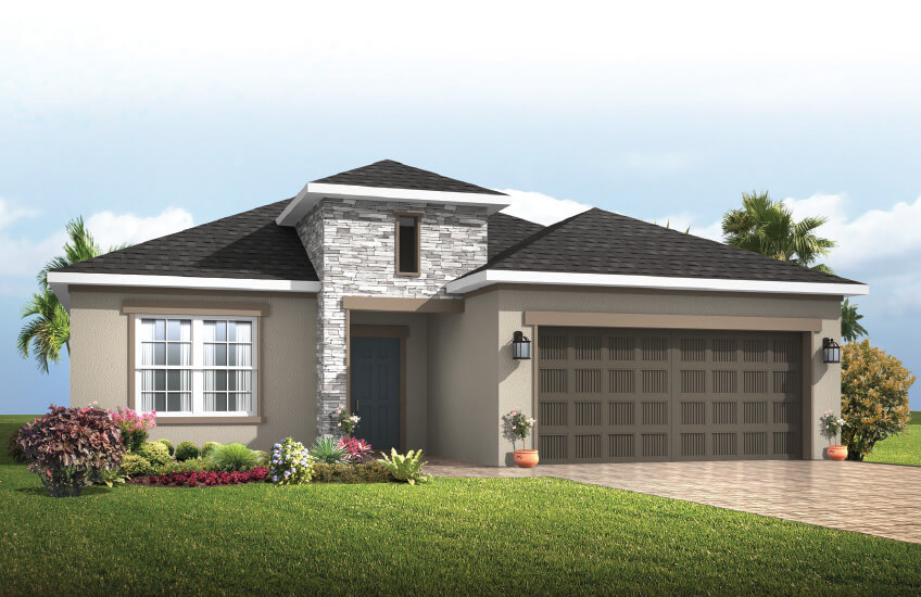 New Tampa Single Family Home Quick Possession Southampton in Waterset, located at 5524 Del Coronado Dr, Apollo Beach (Lot 10) Built By Cardel Homes