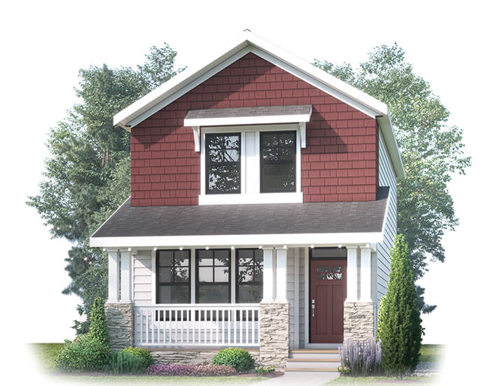 CAMERON AP - AP1 CRAFTSMAN Elevation - 1,414 sqft, 3 Bedroom, 2.5 Bathroom - Cardel Homes Calgary
