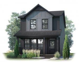 AMERY AP - AP2 FARMHOUSE Elevation - 1,598 sqft, 3 Bedroom, 2.5 Bathroom - Cardel Homes Calgary
