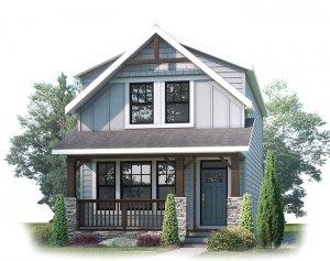 AMERY AP - AP3 MOUNTAIN CRAFTSMAN Elevation - 1,598 sqft, 3 Bedroom, 2.5 Bathroom - Cardel Homes Calgary