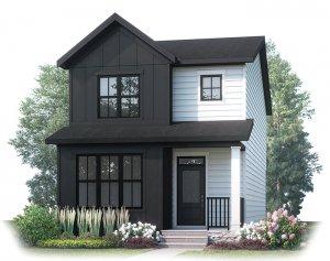 JULIAN AP - AP2 FARMHOUSE Elevation - 1,805 sqft, 3 Bedroom, 2.5 Bathroom - Cardel Homes Calgary