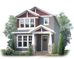 JULIAN AP - AP3 CRAFTSMAN Elevation - 1,805 sqft, 3 Bedroom, 2.5 Bathroom - Cardel Homes Calgary