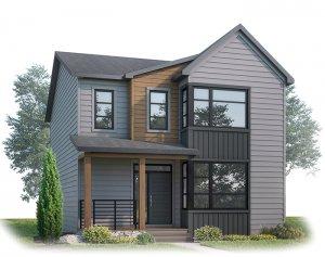 LOGAN AP - AP3 MODERN FARMHOUSE Elevation - 1,940 sqft, 3 Bedroom, 2.5 Bathroom - Cardel Homes Calgary
