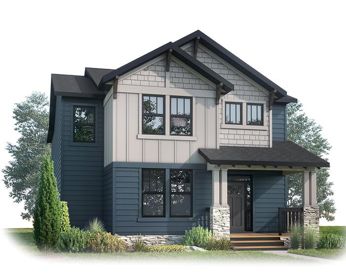 PINNACLE AP - AP2 CRAFTSMAN Elevation - 2,437 sqft, 3 Bedroom, 2.5 Bathroom - Cardel Homes Calgary