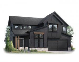 SUMMIT AP - AP1 MODERN FARMHOUSE Elevation - 2,707 sqft, 3 Bedroom, 2.5 Bathroom - Cardel Homes Calgary