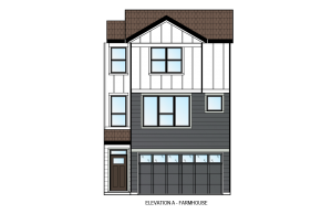 ASCENT - Unit 26 - Farmhouse Elevation - 1,880 sqft, 3 Bedroom, 2.5 Bathroom - Cardel Homes Calgary