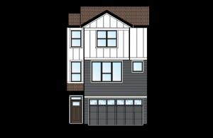 ASCENT - Unit 28 - Farmhouse Elevation - 1,880 sqft, 3 Bedroom, 2.5 Bathroom - Cardel Homes Calgary