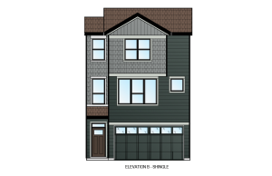 ASCENT - Unit 27 - Shingle Elevation - 1,880 sqft, 3 Bedroom, 2.5 Bathroom - Cardel Homes Calgary