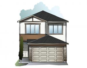 Tala YYC - CRAFTSMAN C1 Elevation - 2,067 sqft, 3-4 Bedroom, 2.5-3.5 Bathroom - Cardel Homes Calgary