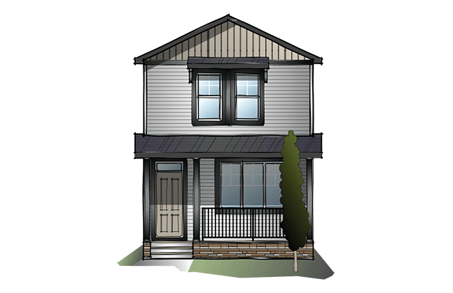 New Calgary Single Family Home Quick Possession Indigo 3 in Cornerbrook, located at 248 Cornergate Row NE Built By Cardel Homes Calgary