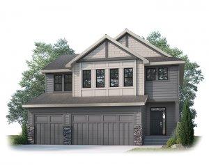 MICHENER SP - S1 CRAFTSMAN Elevation - 2,392 sqft, 3 Bedroom, 2.5 Bathroom - Cardel Homes Calgary