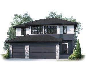 MICHENER SP - S3 FARMHOUSE Elevation - 2,392 sqft, 3 Bedroom, 2.5 Bathroom - Cardel Homes Calgary