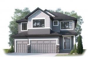CASCADE_SP - S1 SHINGLE_SP Elevation - 2,414 sqft, 3 Bedroom, 2.5 Bathroom - Cardel Homes Calgary