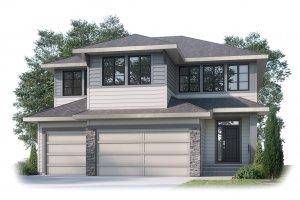 CASCADE_SP - S3 FARMHOUSE_SP Elevation - 2,414 sqft, 3 Bedroom, 2.5 Bathroom - Cardel Homes Calgary