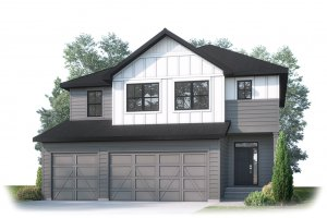 MICHENER SP - S4 FARMHOUSE Elevation - 2,392 sqft, 3 Bedroom, 2.5 Bathroom - Cardel Homes Calgary