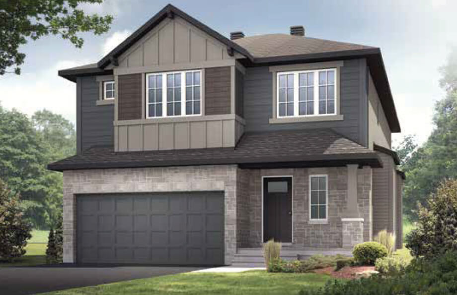 New Ottawa Single Family Home Quick Possession Devonshire 2 in Creekside, located at 710 Kirkham Crescent Built By Cardel Homes Ottawa
