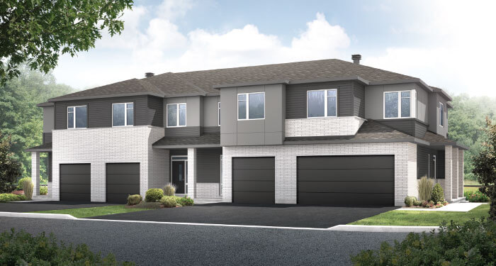 New Ottawa Single Family Home Quick Possession Teak Townhome in EdenWylde, located at 606 Taliesin Crescent, Stittsville (Unit 1352) Built By Cardel Homes