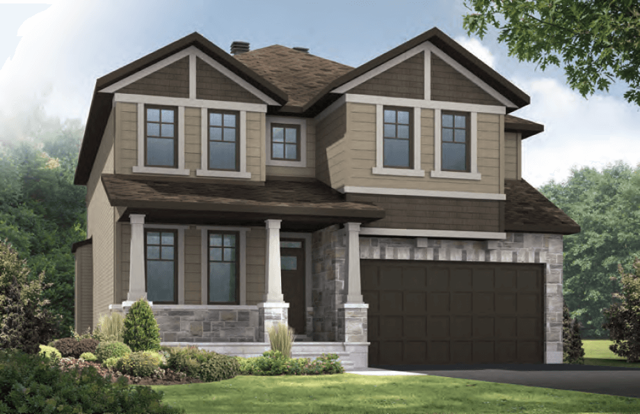 New Ottawa Single Family Home Quick Possession Durham in Creekside, located at 701 Kirkham Crescent, Richmond Built By Cardel Homes Ottawa