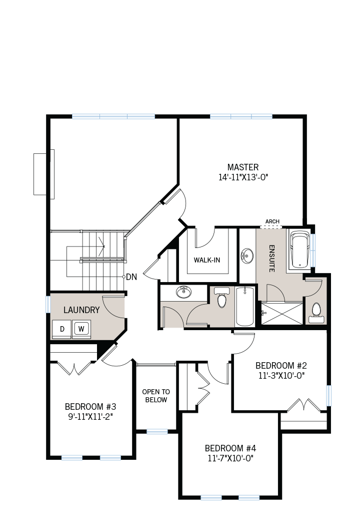 The Durham home upper floor quick possession in Creekside, located at 701 Kirkham Crescent, Richmond Ottawa Built By Cardel Homes