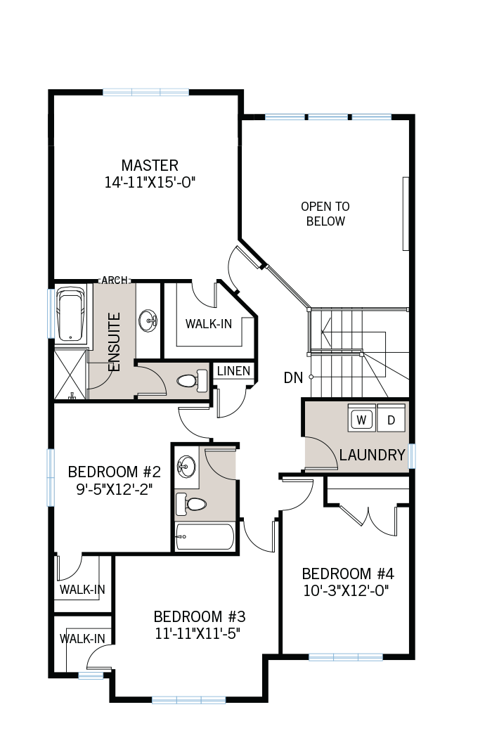 The Devonshire 2 home upper floor quick possession in Creekside, located at 710 Kirkham Crescent Ottawa Built By Cardel Homes