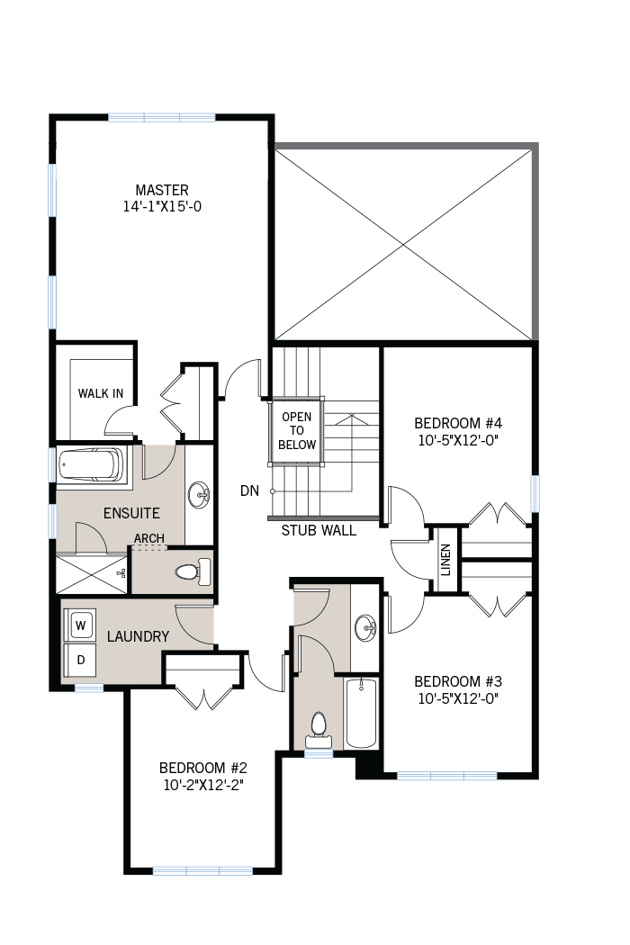 The Nichols home upper floor quick possession in Creekside, located at 712 Kirkham Crescent, Richmond Ottawa Built By Cardel Homes