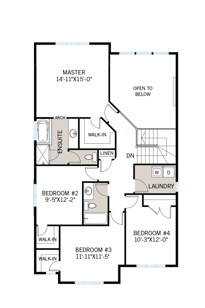 The Devonshire 2 home upper floor quick possession in Creekside, located at 714 Kirkham Crescent, Richmond Ottawa Built By Cardel Homes